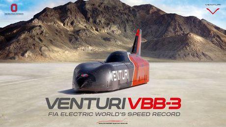 Xe dien Venturi VBB-3 lap ki luc toc do gan 600km/h - Anh 1