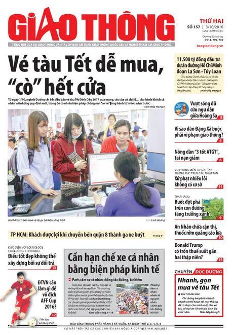 Bao Giao thong 3/10: Ve tau Tet de mua, thuoc rom An Nhan - Anh 1