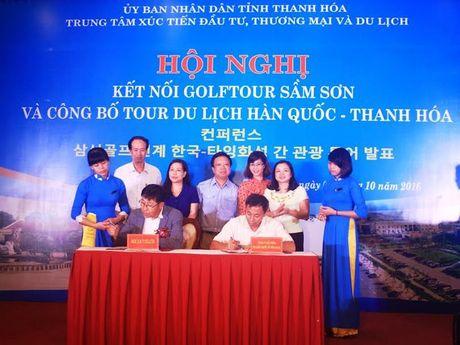 Thanh Hoa: Ket noi Golftour Sam Son va cong bo tour du lich Han Quoc - Thanh Hoa - Anh 1