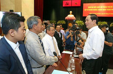 Chu tich nuoc gap go doanh nghiep, doanh nhan TP Ho Chi Minh - Anh 1