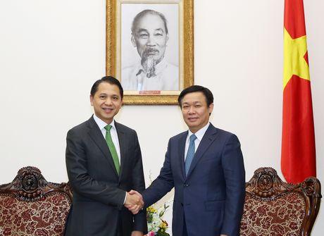 Pho Thu tuong Vuong Dinh Hue tiep Chu tich Ngan hang KBank - Anh 1