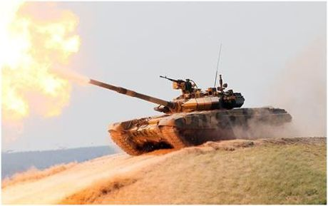 Tang T-90A dau TOW nay lua o Aleppo - Anh 1