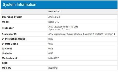 Dien thoai Nokia D1C chay Android 7.0, gia mem - Anh 3