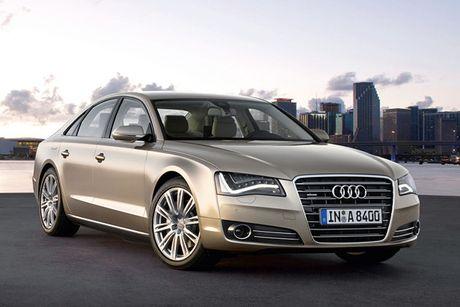 Xe sang Audi A8 o Viet Nam bi trieu hoi do loi dong co - Anh 1