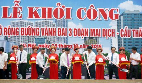 Khoi cong du an mo rong duong Vanh dai 3 doan Mai Dich-cau Thang Long - Anh 1