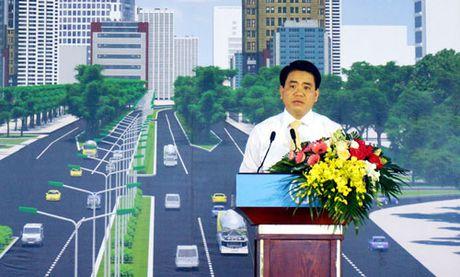 Khoi cong du an mo rong duong Vanh dai 3 doan Mai Dich-cau Thang Long - Anh 2
