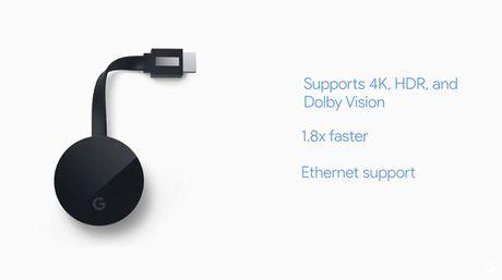Chromecast Ultra: ho tro 4K, co cong Ethernet tren adapter nguon, gia 69$ - Anh 2