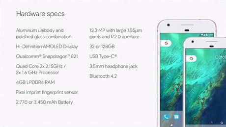 Google Pixel va Pixel XL: Tuyet tac cong nghe moi mang thuong hieu Google - Anh 3