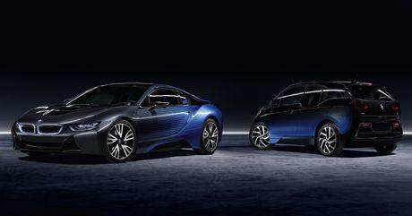 Cap doi BMW i8 va i3 CrossFade concept ra mat tai Paris - Anh 1