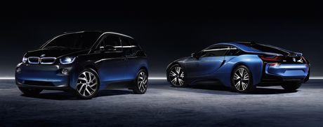 Cap doi BMW i8 va i3 CrossFade concept ra mat tai Paris - Anh 2