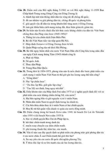 De thi THPT quoc gia minh hoa 4 mon: Sinh, Su, Dia, GDCD - Anh 10