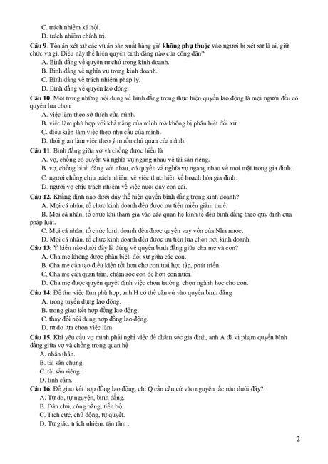 De thi THPT quoc gia minh hoa 4 mon: Sinh, Su, Dia, GDCD - Anh 18