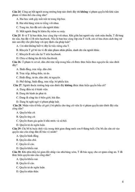 De thi THPT quoc gia minh hoa 4 mon: Sinh, Su, Dia, GDCD - Anh 20