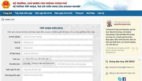 Tu 1/10, doanh nghiep co the phan anh tieu cuc len website cua Chinh phu - Anh 1