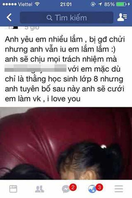 Phat hoang voi chuyen ' yeu som' cua hai hoc sinh lop 8 - Anh 1
