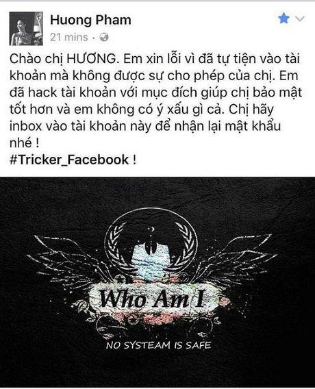 Muon kieu cu xu cua hacker sau khi cuop duoc Facebook sao Viet - Anh 1