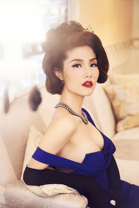 Diem My 9x goi cam trong bo anh lay y tuong tu Marilyn Monroe - Anh 10