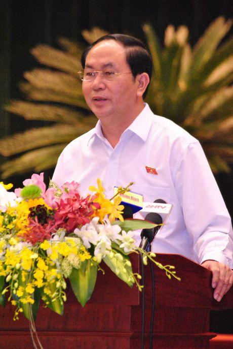 Chu tich nuoc Tran Dai Quang: Doanh nhan phai la 'nhung nguoi linh tien phong tren mat tran kinh te' - Anh 1