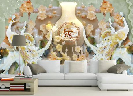 Trang tri phong khach voi da gia ngoc dep nhu chon bong lai - Anh 12