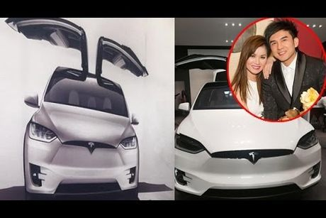 Vo Dan Truong 'show hang' sieu xe dien Tesla tien ty - Anh 1