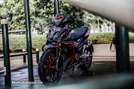 'Xe no' Honda Winner 150 do sieu khung tai Sai Gon - Anh 1