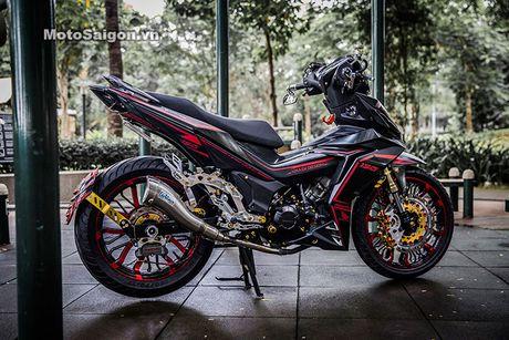 'Xe no' Honda Winner 150 do sieu khung tai Sai Gon - Anh 2