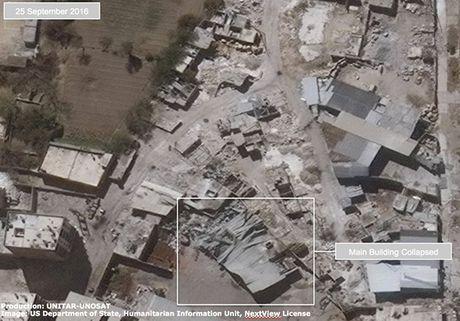 Anh ve tinh Aleppo tan hoang trong mua bom bao dan - Anh 1