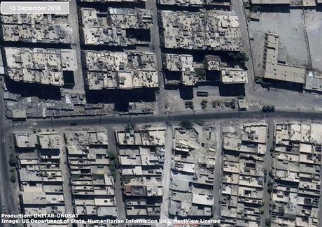 Anh ve tinh Aleppo tan hoang trong mua bom bao dan - Anh 4