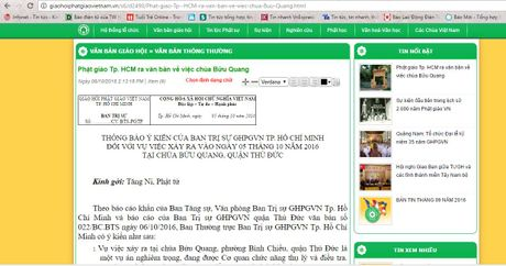 Ban tri su GHPGVN TP.HCM: Nguoi gay an mang khong phai tu si Phat giao - Anh 1
