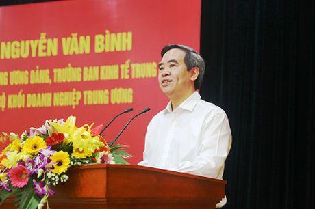 Truong ban Kinh te Trung uong lam viec voi Dang uy Khoi doanh nghiep Trung uong - Anh 1
