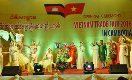 Hoi cho Thuong mai Viet Nam 2016 khai mac tai Campuchia - Anh 1