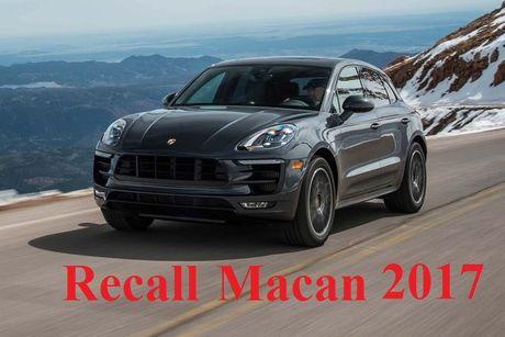 Porsche Macan 2017 bi trieu hoi - Anh 1