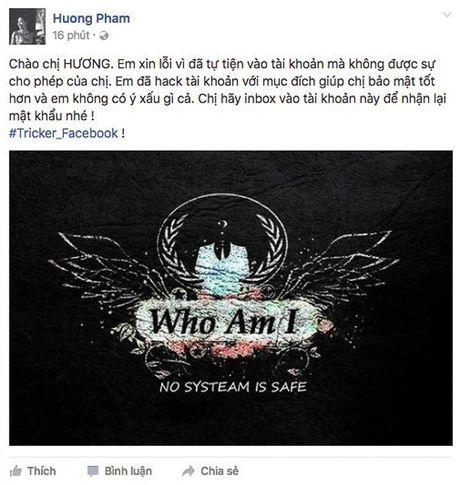 Hoa hau Pham Huong bi nghi ngo co tinh gia mat Facebook? - Anh 2