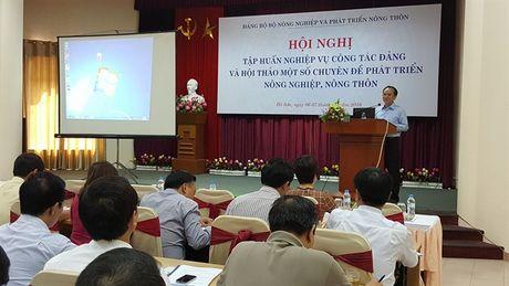 Dang uy Bo NN-PTNT tap huan cong tac Dang - Anh 1