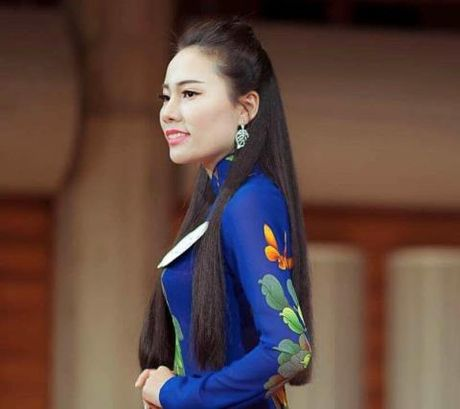 Nguyen Thi Hong Gam lot Top 3 Hoa hau Ao dai Viet Nam tai Nhat - Anh 1