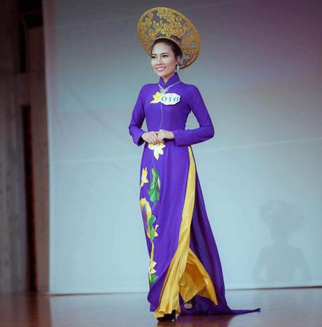 Nguyen Thi Hong Gam lot Top 3 Hoa hau Ao dai Viet Nam tai Nhat - Anh 2