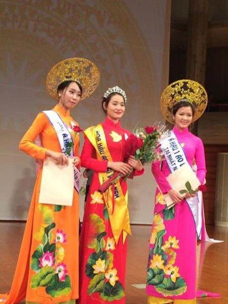 Nguyen Thi Hong Gam lot Top 3 Hoa hau Ao dai Viet Nam tai Nhat - Anh 4