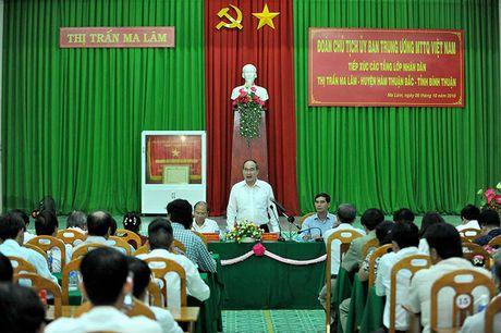 Chu tich MTTQ Viet Nam lam viec voi tinh Binh Thuan - Anh 2