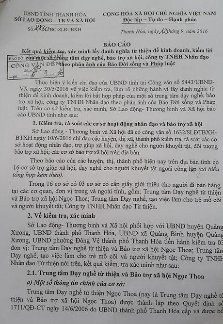 Thanh Hoa: 3 trung tam tu thien to chuc di ban hang tra hinh - Anh 1