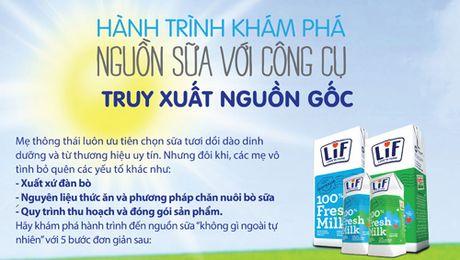 Hanh trinh kham pha nguon sua voi cong cu Truy xuat nguon goc - Anh 1