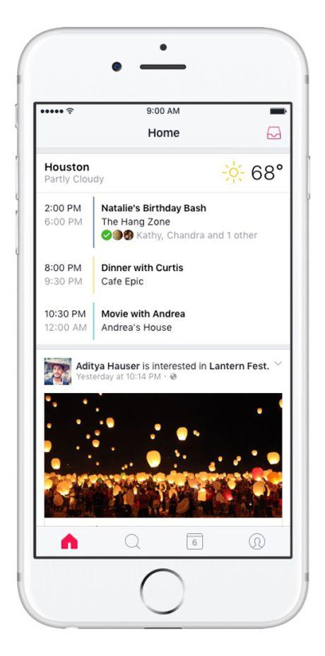 Facebook ra mat ung dung nhac nho su kien Events tren iOS - Anh 3
