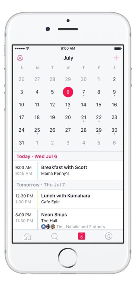 Facebook ra mat ung dung nhac nho su kien Events tren iOS - Anh 4