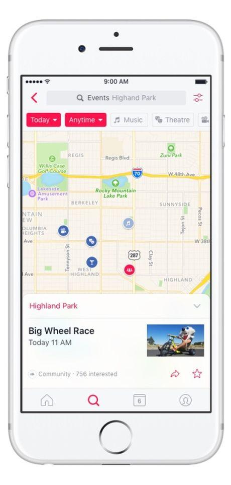 Facebook ra mat ung dung nhac nho su kien Events tren iOS - Anh 5