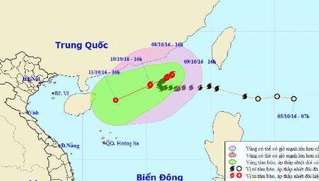 Bao so 6 di chuyen theo huong Dong Bac - Anh 1