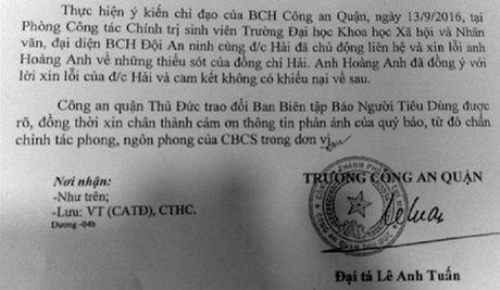 """Cong an Thu Duc noi gi ve """"loi keu cuu cua mot nu sinh vien""""? - Anh 2"""