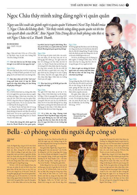 Bella - co phong vien thi nguoi dep cong so - Anh 2