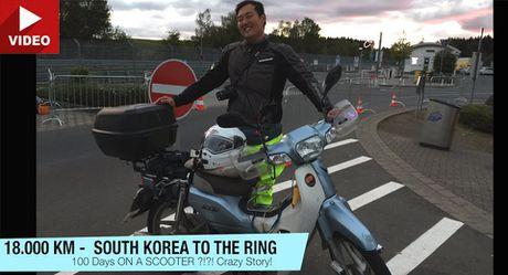 Chang trai chay Honda Super Cub tu Han Quoc sang Duc - Anh 1