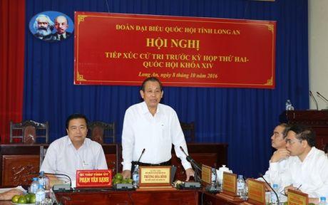 Pho Thu tuong Truong Hoa Binh: 'Danh cho trung dau so, lam cho ro duong day' - Anh 1
