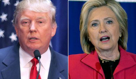 Donald Trump dan truoc Hillary Clinton truoc cuoc 'doi dau' lan hai - Anh 1