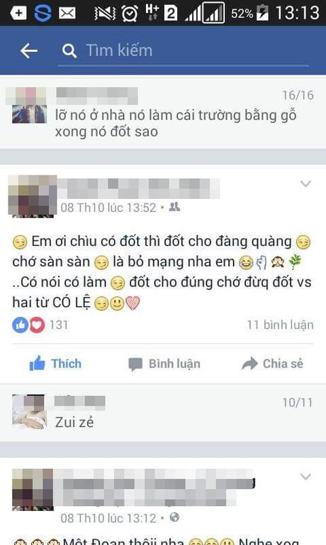 Hoc sinh o Khanh Hoa do xang dot truong hoc chi vi lo 'cau like song ao' - Anh 3
